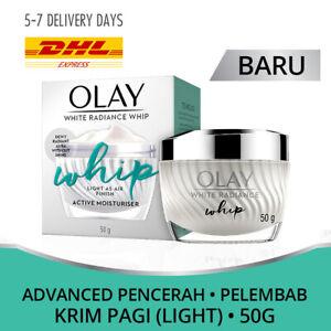 Pack 2: [OLAY] White Radiance Whip Active Moisturiser Day Light Cream Dewy 50gr