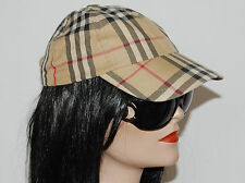 100% Authentic Burberry Nova Check Baseball Hat Cap Adjustable