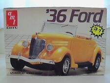 VINTAGE AMT / ERTL (1936) '36 FORD CONVERTIBLE (3 IN 1) MODEL KIT (OPENED)