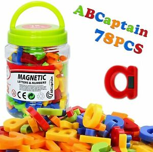 Magnetic Alphabet Letters and Numbers for Toddlers Magnets ABC 123 Fridge 78Pcs