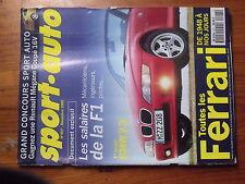 $$t Revue sport auto N°407 salaires F1  BMW Z3  Ferrari  GP Japon  GP Australie