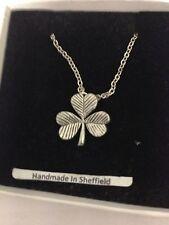 """Shamrock PP-G52 Emblem Silver Platinum Plated Necklace 18"""""""