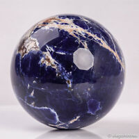 900g 91mm Large Natural Blue Sodalite Quartz Crystal Sphere Healing Ball Chakra