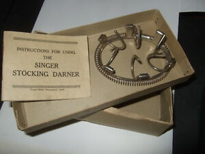 Singer Sewing Machine Stocking Sock Darner With Instructions