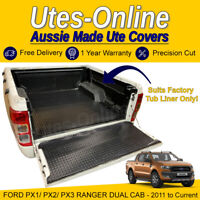 Checker Plate Rubber Mat For FORD PX1/ PX2/ PX3 RANGER DUAL CAB UTE Truck