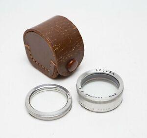 EX! Accura Close Up Filter Set Rolleiflex/Yashica Bay 1 No 2 w/Case B30 Proxar