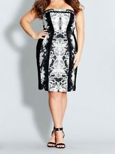 CITY CHIC XL 22 NET RRP $159.95 DRESS LACE AFFAIR BLACK WHITE