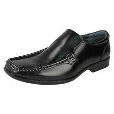 Mens Hush Puppies Black Leather Slip on Shoe Style - Coach IIS UK 7