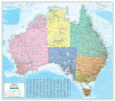 NEW Laminated Wall Maps - Aust Australia Political Reference Map