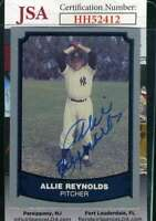 Allie Reynolds 1990 Pacific JSA Coa Autograph Authentic Hand Signed