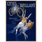 """Vintage Bicycle Poster Cycles Brilliant CANVAS PRINT 24""""X16"""""""