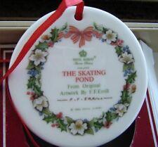 "ROYAL DOULTON ENGLAND PRE YR 2000 ""THE SKATING POND"" ROYAL ALBERT MINI PLATE1995"