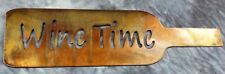 Wine Time Metal Wall Art Decor  Copper/Bronze Plated