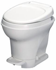 Aqua Magic V RV Toilet Pedal Flush / High Profile / White - Thetford 31671
