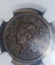 1848 1C BN Braided Hair Large Cent NGC VF 25