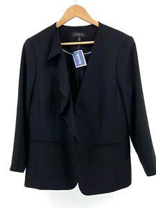 Black Talbots Size 14 Blazer Career Jacket (G7-443)
