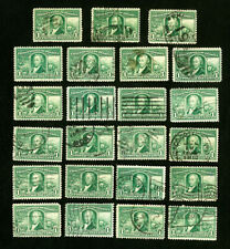 US Stamps # 323 F-VF Used Lot of 25 Catalog Value $120.00