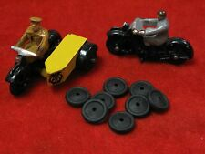Motorcycle Tires for  Dinky Toys, black, 12mm, Lot of 8