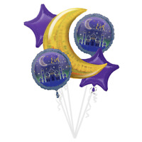 Crescent Mosque Foil Balloon ~ EID MUBARAK RAMADAN Party Supplies Decoration 5pc