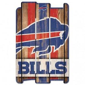 "Buffalo Bills Wood Fence Sign 11""x17"" [NEW] NFL Wall Man Cave Fan Wall"
