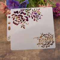 Reusable rose Stencil Airbrush Art DIY Home Decor Scrapbooking Album Craft TRFR