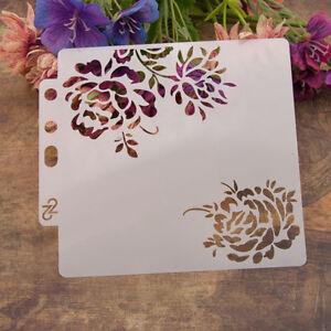 Reusable rose Stencil Airbrush Art DIY Home Decor Scrapbooking Album Craft .of