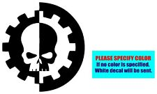 Warhammer 40k Adeptus Mechanicus Vinyl decal sticker Graphic Die Cut Car 6""