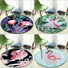 Flamingo Round Carpet Anti-slip Mats Area Rug Floor Mat Chair Pad Deco Polyester