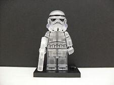 Custom LEGO Star Wars Transparent Clear Stormtrooper Minifigure Building Blocks