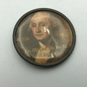 Rare Antique George Washington 1732-1932 Old Line Life Insurance America Pin H1
