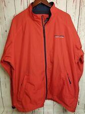 Vintage Polo Sport Men XL Red Long Sleeve Full Zip Nylon Windbreaker Jacket Zip