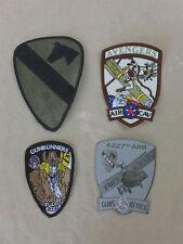 4x insignia parches USAF 4. 227th arb Air Cav Avengers Guns Attack gunrunners