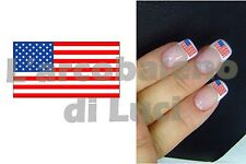 20 AUTOCOLLANTS ONGLES DRAPEAU USA FLAG MANUCURE NAILS ART STICKERS DèCORATION