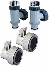 Intex Pool Replace Hose Adapter Pump Part Conversion 1.25 to 1.50 Plunger Valve
