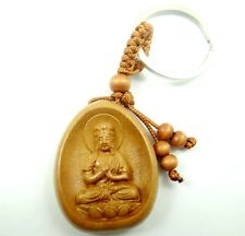 43*33MM Hand-carved Patron saint Wooden Crafts,Key Chain,Key Ring Lover D3