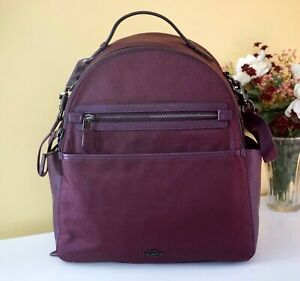 NWT $395 Coach Backpack Baby Diaper Bag & Changing Pad, 99290 Boysenberry/Pewter