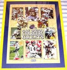 Chargers Greats autographed signed poster framed Lance Alworth Junior Seau Fouts