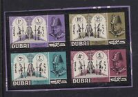 DUBAI 10 MAY 1966 WINSTON CHURCHILL SET OF ALL 4 COMMEMORATIVE STAMPS MNH