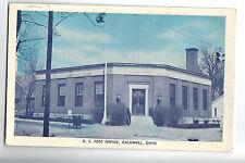 Vintage Post Card - CALDWELL OHIO - U.S. Post Office - Postally Used 1953 - OH