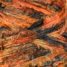 Super doux chunky plume fils 500g cone - 10 Balles noir orange écharpe tricot