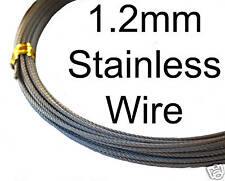 10metres 316 Grade Stainless Steel 1.2mm 49 Strand Wire. Super Fast Postage