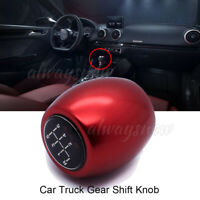5&6 Speed Manual MT Gear Stick Shift Knob Red Car Lever Shifter Cover fit Cruze