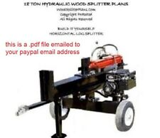 Horizontal Wood-Log Splitter Plans, Hydraulic 18 Ton, PDF WoodSplitterPlans.Com