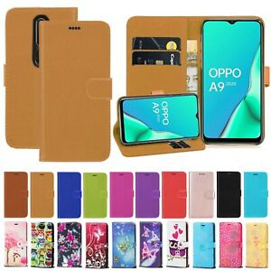 For OPPO A9 A5 2020 A53 A15 A54 PU Leather Magnetic Wallet Flip Stand Case Cover
