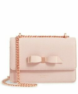 NWT- Ted Baker London- JAYLLAA-  Bow- Leather Crossbody Bag- Light Pink- $175