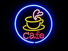 "New Cafe Logo Neon Light Sign 24""x24"" Lamp Poster Real Glass Beer Bar"