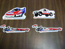 Kenny Bernstein Signed Auto Racing Decals Stickers lot of 4 NOS vintage