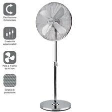 Ventilatore Colonna Piantana in Acciaio Inox 50 W 40cm 3 Velocita Regolabile