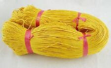 80 Metres X 1mm Waxed Cotton thread YELLOW Macrame-jewelry-craftwork £4.55