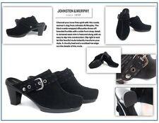 Women's Johnston & Murphy Black Suede Platform Clog, Size 8 M
